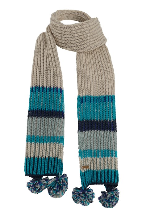 Deedee Striped Rib Knit Scarf Navy