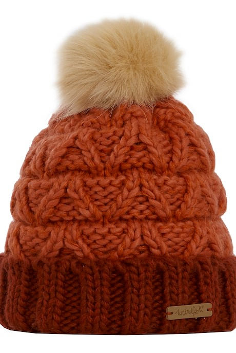 Livvy Knit Bobble Hat Chilli Red
