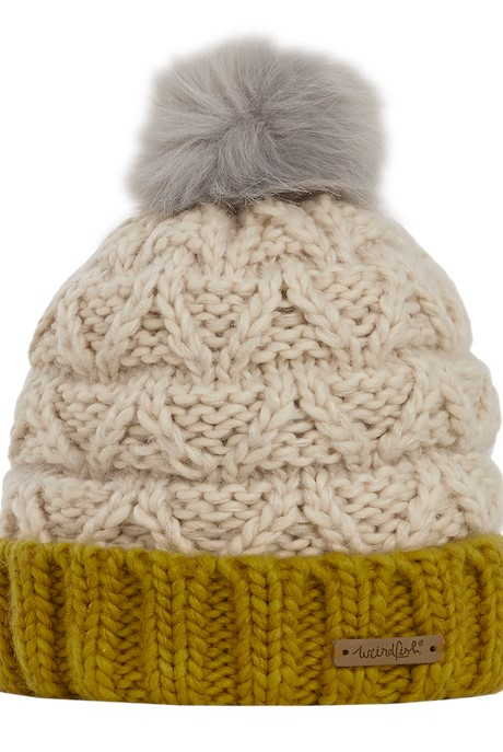Livvy Knit Bobble Hat Chalk