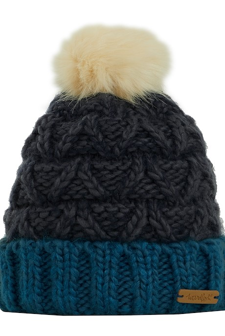 Livvy Knit Bobble Hat Navy