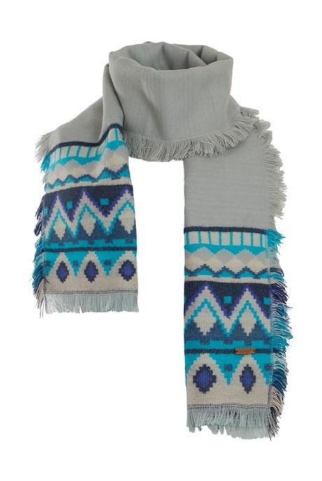 Meera Jacquard Knit Scarf Mint Green