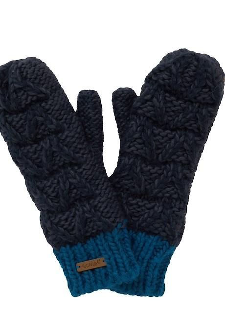 Nikki Chunky Knit Mittens Navy