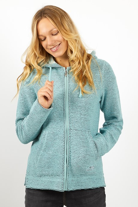 Weylin Full Zip Eco Macaroni Hoodie Mint Green
