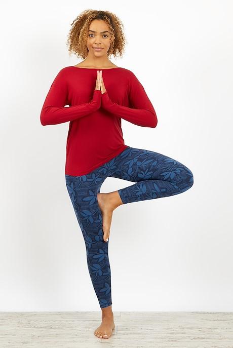Iris Bamboo Long Sleeve T-Shirt Rich Red