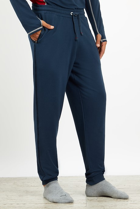 Hermes Bamboo Joggers Navy