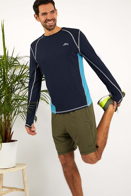 Olympus Bamboo Long Sleeve T-Shirt Navy
