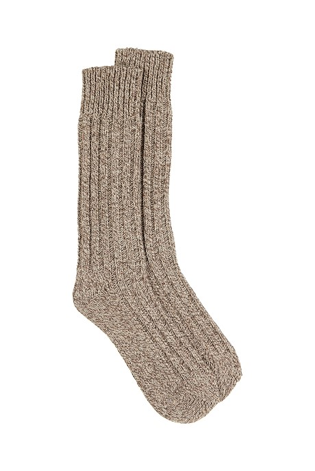 Muckish Chunky Rib Walking Sock Toast