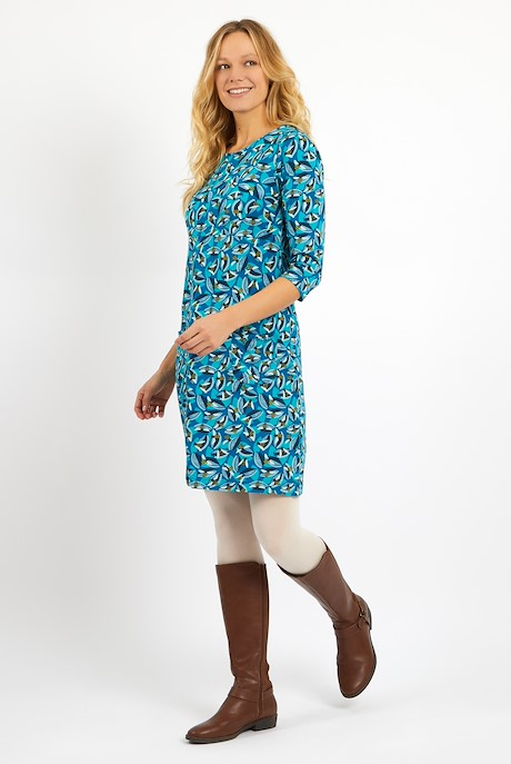 Starshine Printed  Jersey Dress Storm Blue