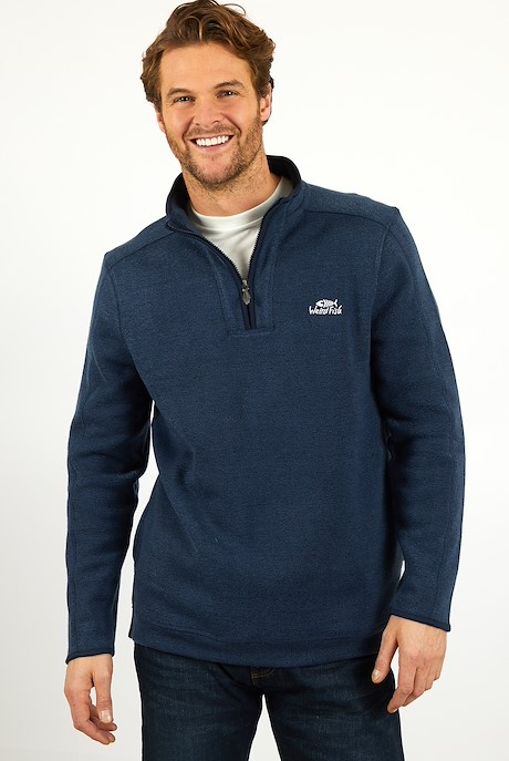 Stowe 1/4 Zip Soft Knit Fleece Navy