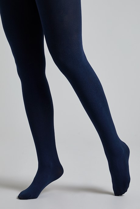 Una Block Colour Tights  Navy