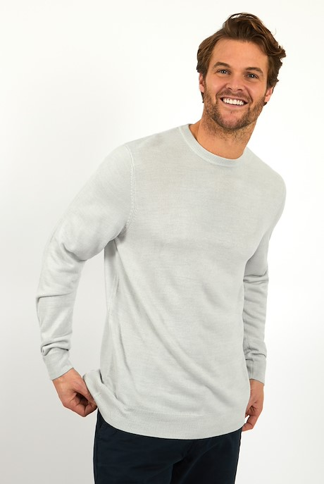 Tullamore Fine Gauge Crew Neck Jumper Steel Grey