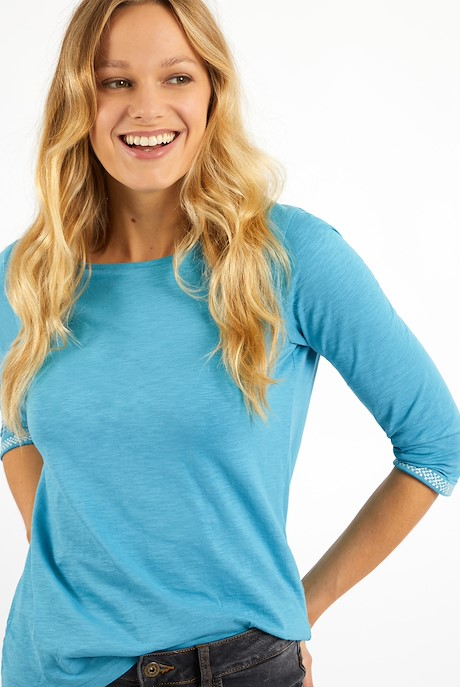 Trinny 3/4 Sleeve T-Shirt Smoked Blue