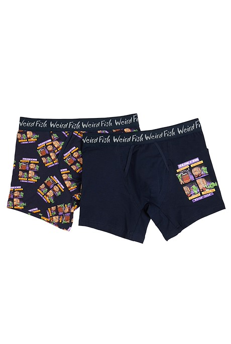 Glin Boxer Set 2 Pair Pack Navy
