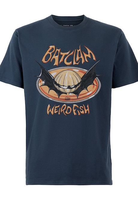 Batclam Organic Cotton Artist T-Shirt Navy