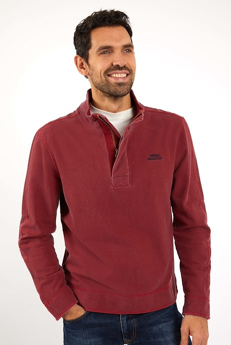 Dunmore Long Sleeve Pique Chilli Pepper