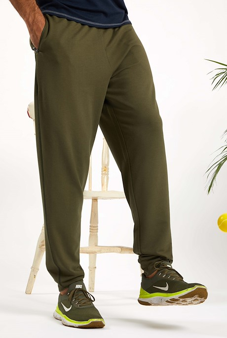 Hermes Bamboo Joggers Dark Olive