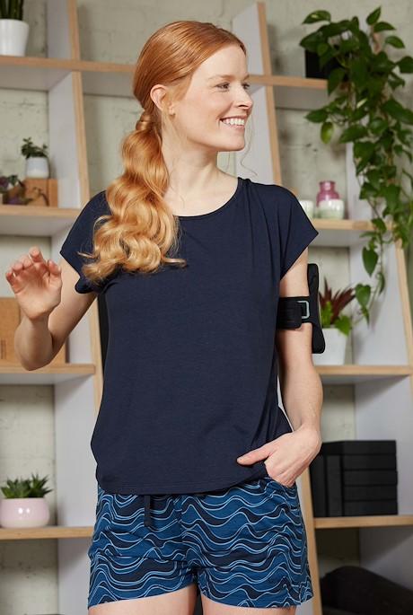 Athena Bamboo T-Shirt Navy