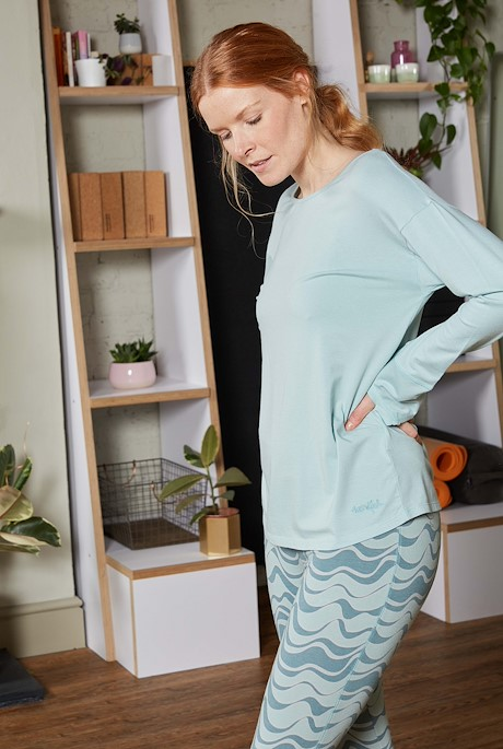 Iris Bamboo Long Sleeve T-Shirt Seaspray