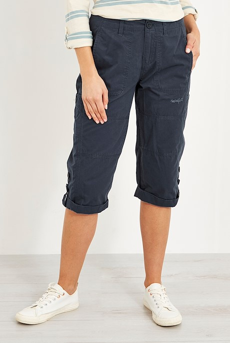 Salena Organic Cotton 3/4 Length Trousers Navy