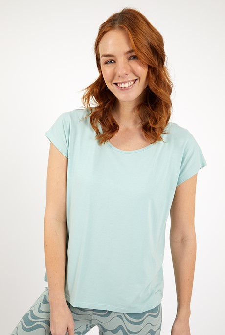 Athena Bamboo Yoga T-Shirt Seaspray