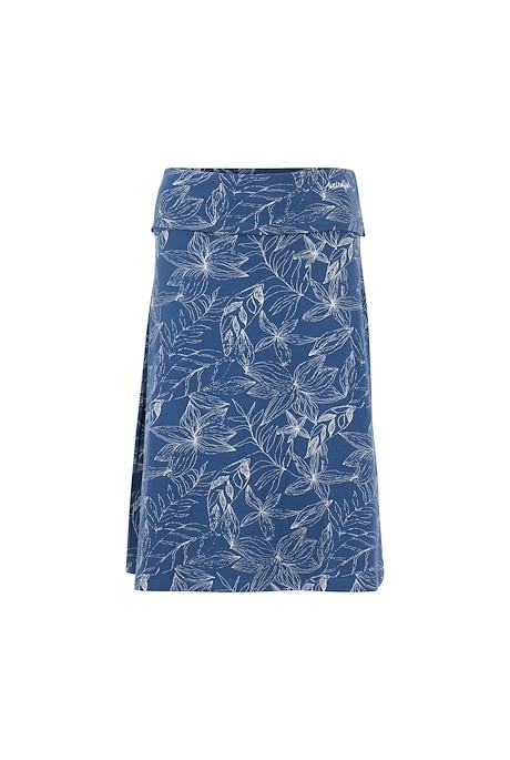 Malmo Organic Cotton Printed Jersey Skirt Ensign Blue