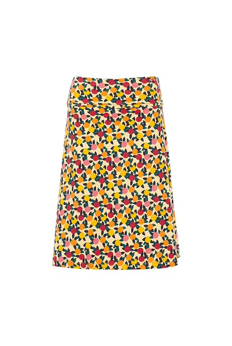 Malmo Organic Cotton Printed Jersey Skirt Apricot