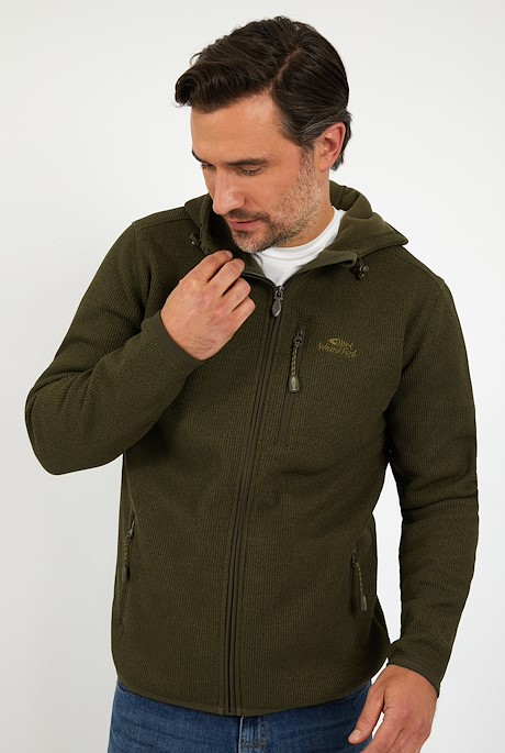 Lockie Full Zip Hooded Fleece Olive Night