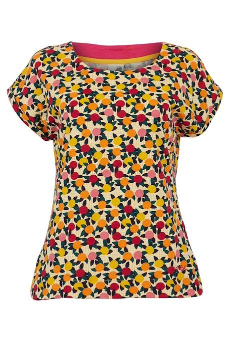 Paw Paw Organic Cotton Printed Jersey T-Shirt Apricot