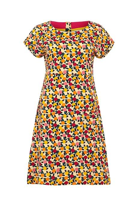 Tallahassee Organic Cotton Printed Jersey Dress Apricot