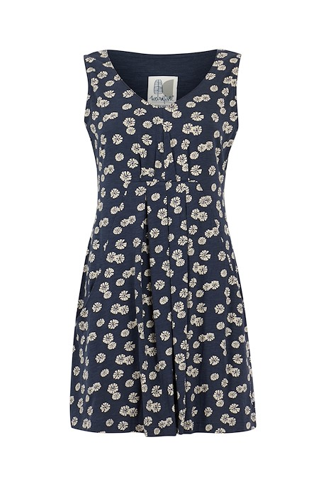 Indus Printed Jersey Tunic Navy