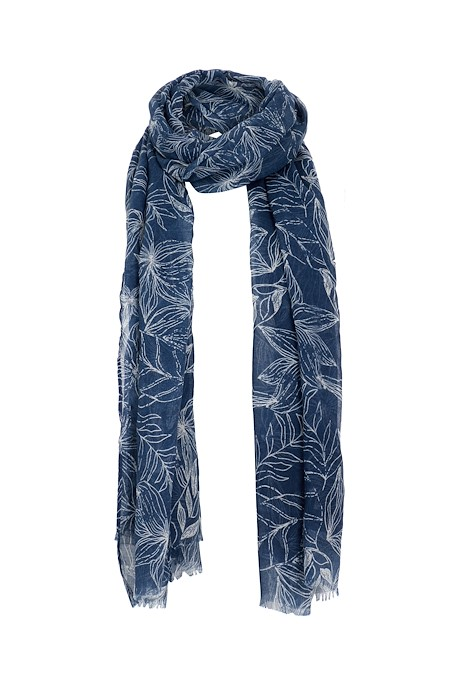 Alverton Printed Scarf Ensign Blue