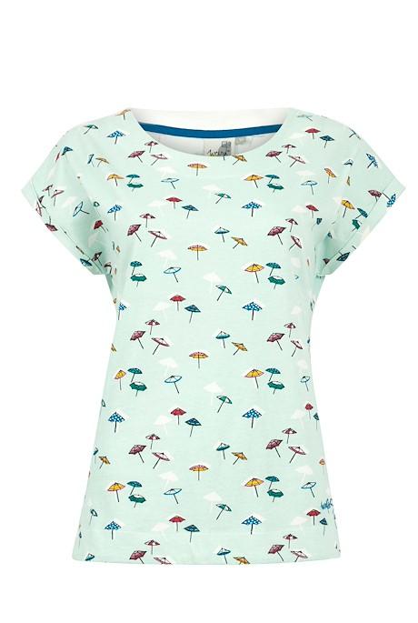 Paw Paw Organic Cotton Printed Jersey T-Shirt Seafoam