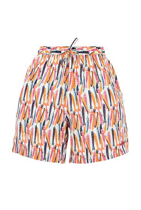 Sundance Printed Beach Shorts Light Cream