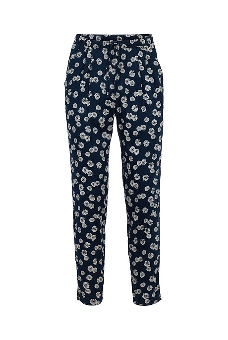 Tinto Printed Viscose Trousers Navy