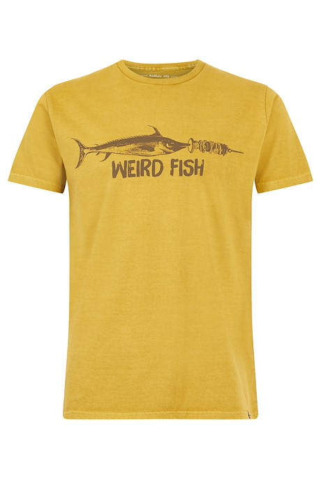 Skewer Organic Cotton T-Shirt Mustard