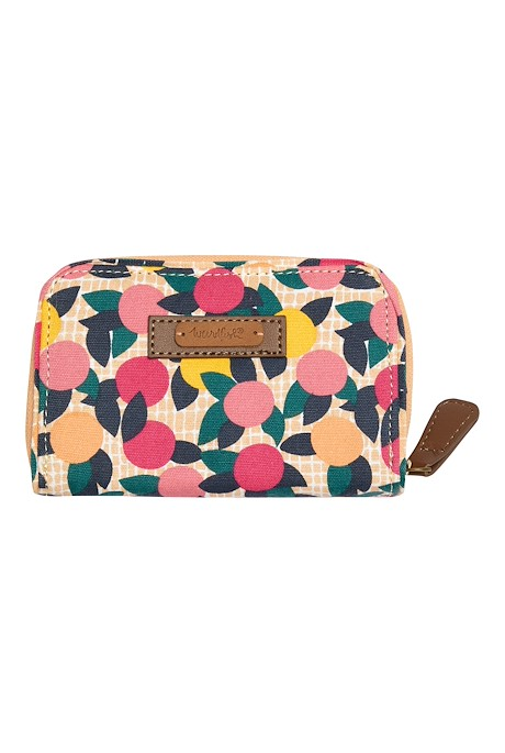 Tom Tom Printed Cotton Purse Apricot