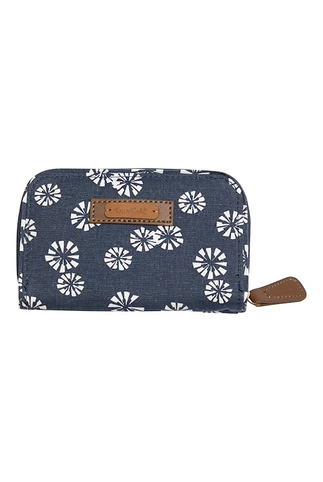 Tom Tom Printed Cotton Purse Navy