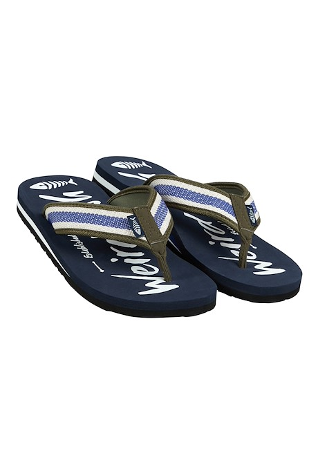 Waterford Printed Flip Flop Navy