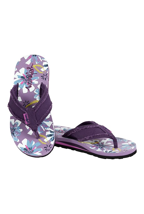 Salcombe Printed Flip Flop Lilac Hint