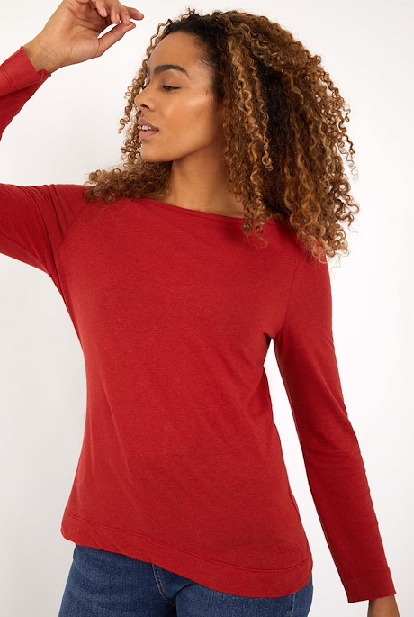 Eva Boat Neck T-Shirt Chilli Red