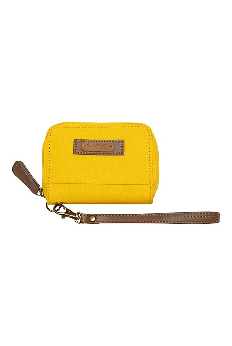 Corfe Washed Canvas Purse Saffron