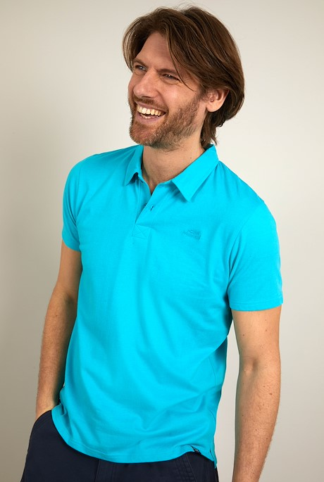 Quay Branded Polo Turquoise