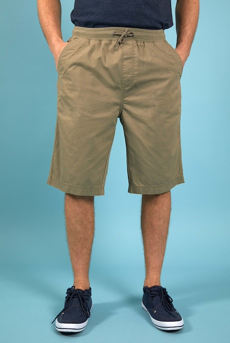 Murrisk Relaxed Casual Shorts Khaki Grey