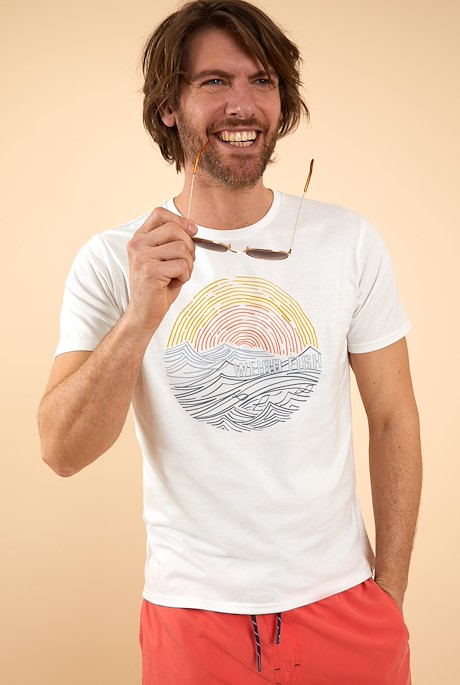 Ocean Organic Cotton Graphic T-Shirt Dusty White