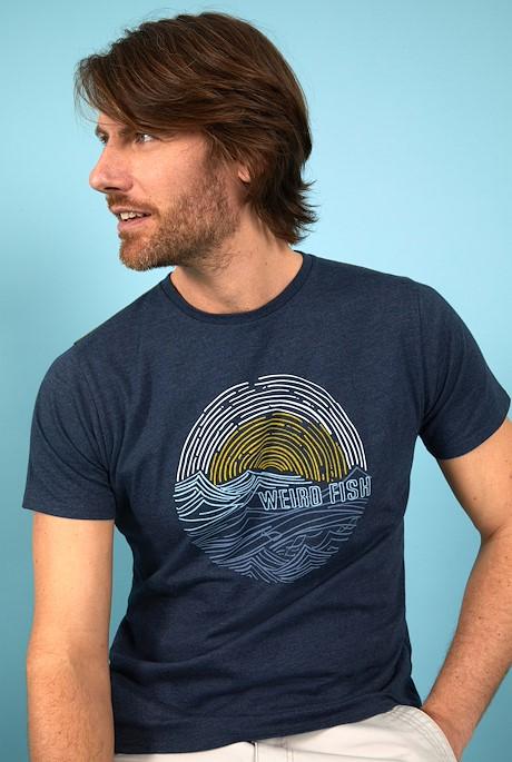 Ocean Eco Cotton Graphic T-Shirt Navy