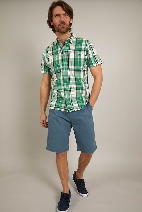 Ennis Short Sleeve Check Shirt Frosty Spruce