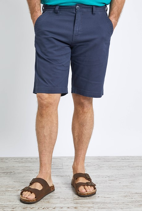 Rayburn Organic Cotton Flat Front Shorts Navy