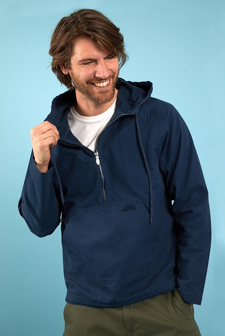Hogarth Washed Canvas Popover Jacket Navy