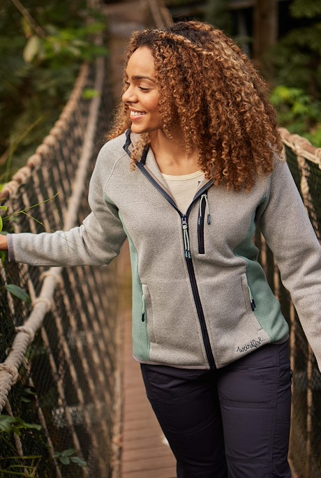 Sidonie Colour Block Soft Knit Hoodie Frost Grey