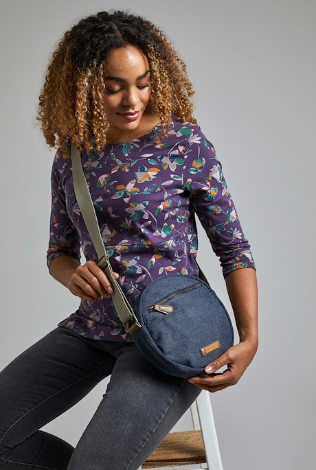 Stanton Canvas Cross Body Bag Navy